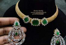 italian gold chain with diamond pendant