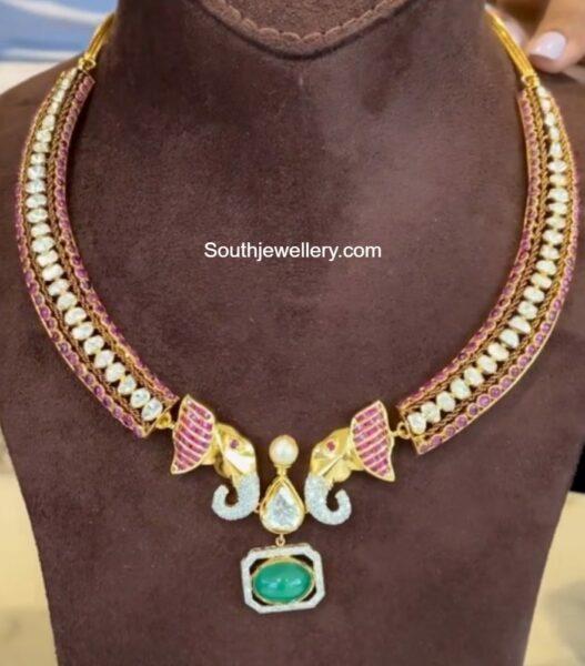 kante necklace with elephant pendant nikitha linga