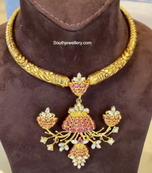 kante necklace with jhumki pendant nikitha linga