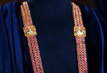 kundan haram with uncut pendant