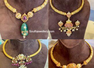 nikitha linga latest model kante necklace designs