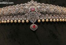 paisley design diamond vaddanam