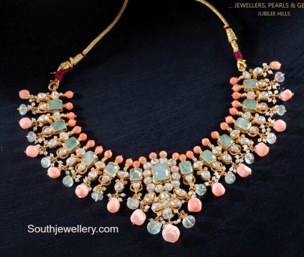 pastel emerald necklace