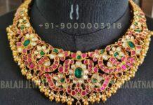 peacock kundan necklace