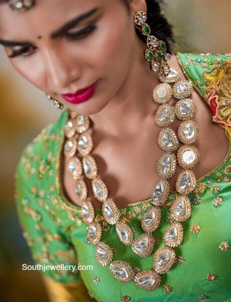 polki diamond layered necklace set (1)