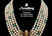 south sea pearl necklace with balaji pendant