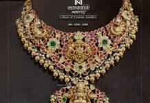 antique gold bridal kundan neckalce