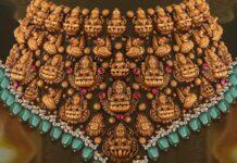 antique gold lakshmi choker (3)