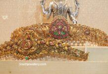 antique gold nakshi vaddanam designs