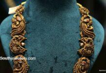 antique gold peacock nakshi haram (4)