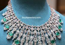 diamond and emerald necklce