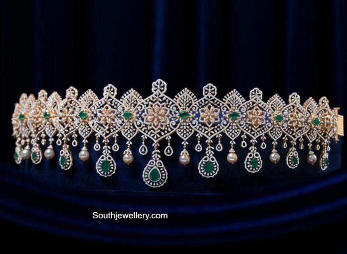 diamond and emerald vaddanam pmj