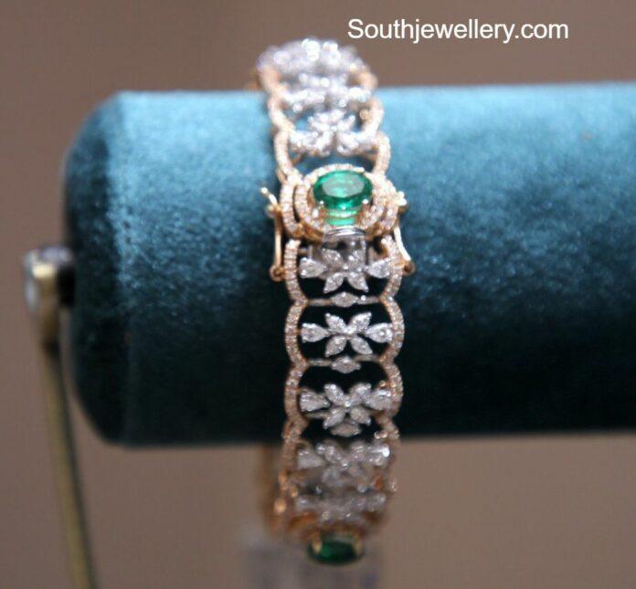 diamond emerald bangle (1)