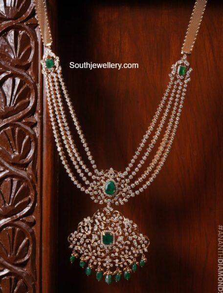 diamond emerald necklace ananth diamonds