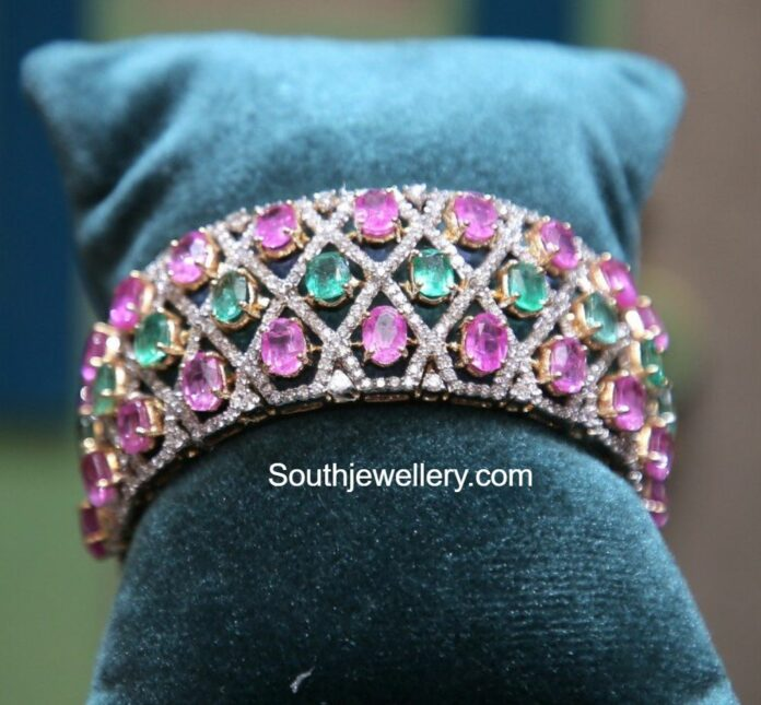 diamond emerald ruby bangle