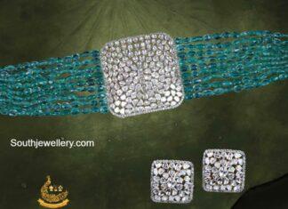 emerald beads choker pavan mor