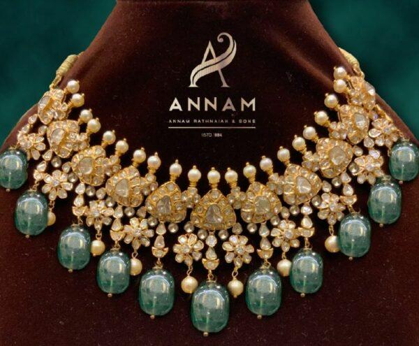 floral polki necklace (1)