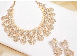 floral polki necklace set