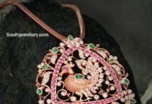 gold chain with annapakshi pendant vbj