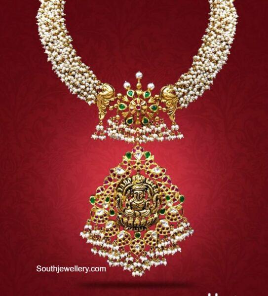 guttapusalu pearl necklace with lakshmi pendant (1)