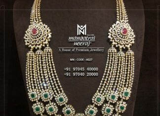 layered bridal diamond haram
