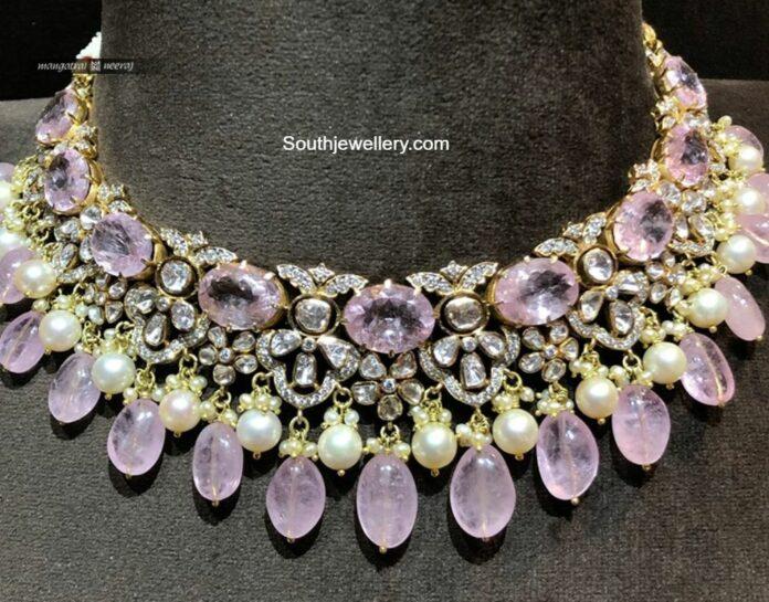 polki and diamond necklace mangatrai neeraj