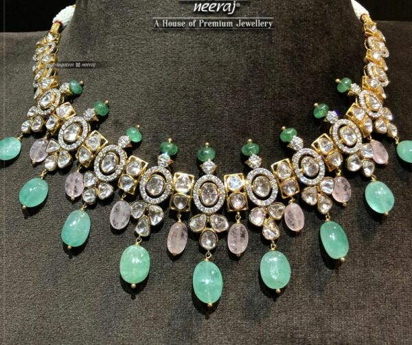 polki and emerald necklace (1)