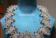 statement peacock diamond necklace