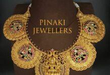 traditional kundan lakshmi kasu necklace