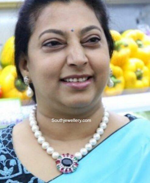 vasundhara nandamuri pearl necklace