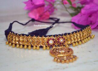 antique gold kundan choker