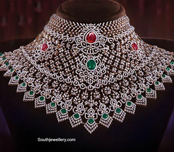 bridal diamond choker (2)