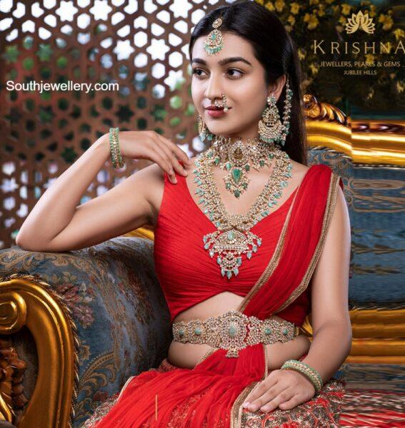 bridal polki jewellery set