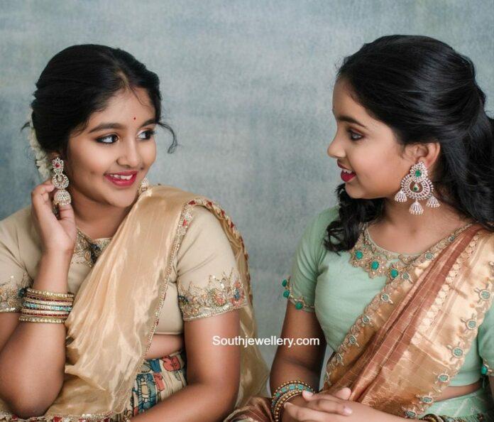 diamond and emerald earrings aariana and viviana