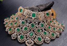 diamond emerald choker neelkanth