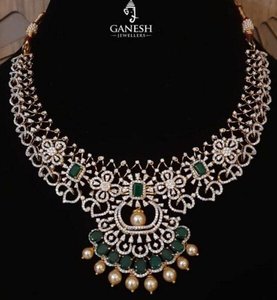 diamond emerald necklace (4)