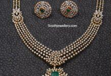 diamond necklace and studs