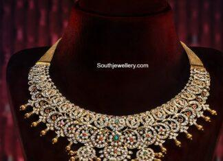 diamond necklace closed setting
