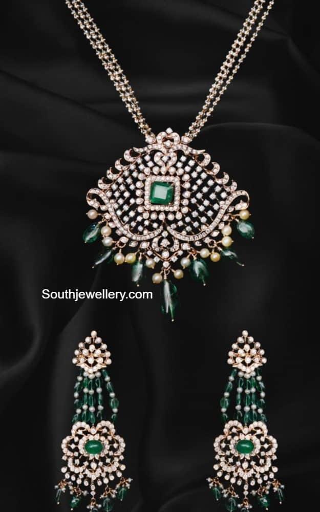 diamond pendant set ananth diamonds