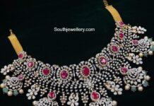 diamond ruby necklace ananth diamonds