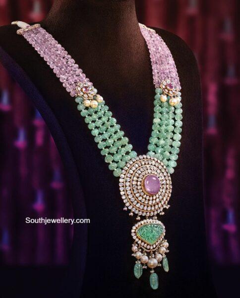 emerald and morganite beads haram