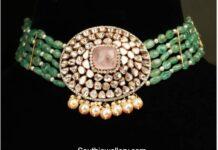 emerald beads choker set