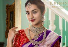emerald diamond jewellery set krishna