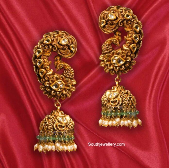gold jhumkas ananth diamonds