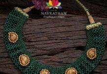 green emeralds beads neklace