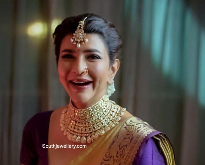 lakshmi manchu uncut diamond choker krsala