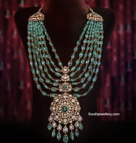 layered emerald beads haram