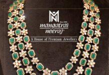 layered emerald polki haram (1)