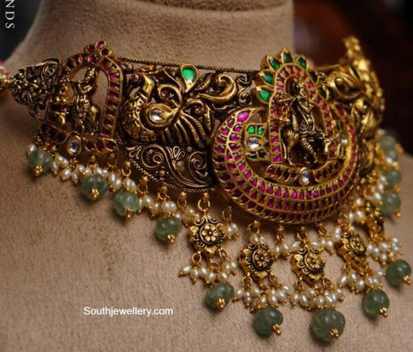 lord krishna peacock choker