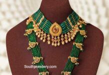 emerald necklace and haram joyalukkas